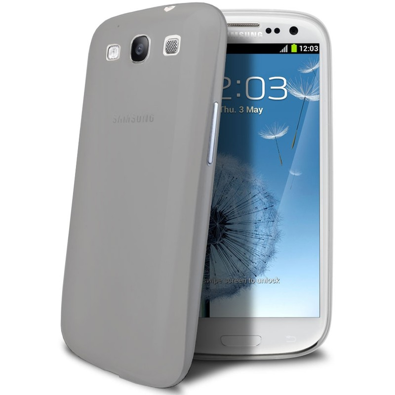 Samsung galaxy s3 mini housse tui gris extra fin 0 3 mm for Housse samsung s3