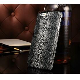 """Housse Etui Coques Luxe Serpent Motif Noir Iphone 6 4,7"""" pouces"""