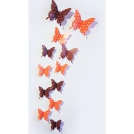 12 Pièces 3D Stickers Papillon Cœur Design Décoration Maison Butterfly 3d