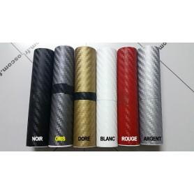 10x120 cm BLANC 3D Fibre de Carbone Vinyle Adhésifs Autocollant Stickers Voiture Décorations