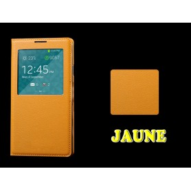 Etui S-View Cover Galaxy Note 3 Jaune Film Offert PROMO