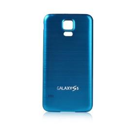 Batterie Cache Arriéré Alu Brosse Bleu Pour Samsung Galaxy S5