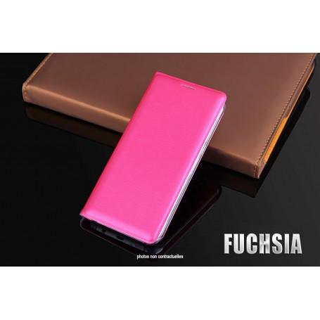 Housse Etui Flip Cover FUCHSIA Pour Samsung Galaxy S7 SM-G935 SM-G930