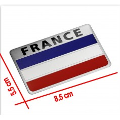 Carte de la France National Flag 3D Car Sticker Aluminium Citroën Peugeot Renault Venturi Bugatti Amilcar Heuliez