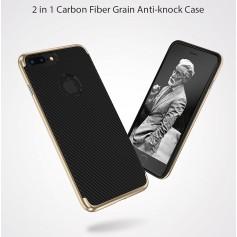 Ultra Fin Carboné Fiber Design Coque NOIR pour iPhone 8