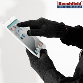 Gants Tactile Beechfield iGlove Noir iPhone Galaxy HTC Smartphone Tablette