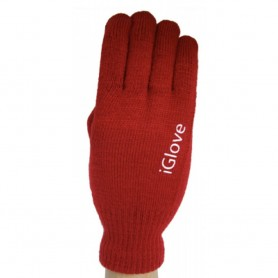 Gants Tactile iGlove Rouge iPhone Galaxy Note 8 Plus Smartphone Tablette