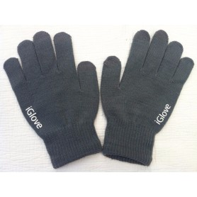 Gants Tactile iGlove Gris iPhone Galaxy HTC Smartphone Tablette