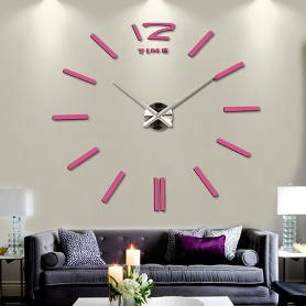 3d Stickers ROSE Grand Horloge Montre Murale Acryliques A2 - 120 cm