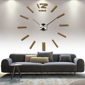 3d Stickers CHOCOLAT Grand Horloge Montre Murale Acryliques A2 - 120 cm