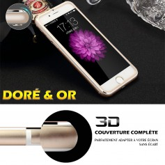 Film Verre Trempe Avant et Arriéré 360° 3D Edge Pour iPhone 8 DORE