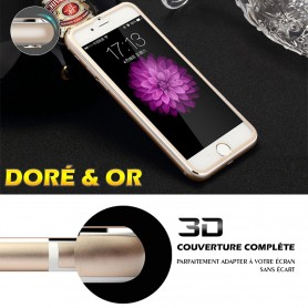 iPhone 6s Film 3D Edge Verre Trempe Doré Full Coverage Titanium Séries