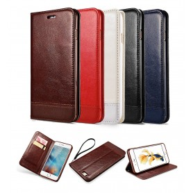 Pour iPhone 7 PLUS Flip Cover En Simili Cuir Poche De Portefeuille Luxe