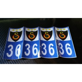 4x Stickers Plaques D'immatriculation Fin Série GALATASARAY SK 36 - 100x45 mm