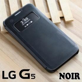 Smart View Cover Noir LG G5 Film Protection Port 48h Offert