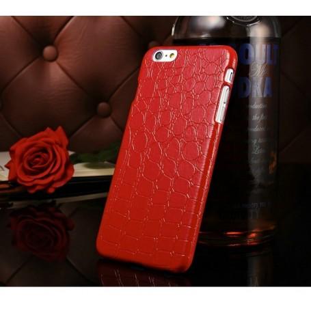 """Etui Rouge Motif Alligator Iphone 6 Plus 5.5"""""""