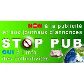 Stickers Autocollant Stop-Pub Boite au lettre Anti Pub 100X50 mm