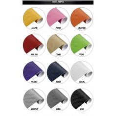 60x500 cm ORANGE 3D Fibre de Carbone Vinyle Adhésifs Autocollant Stickers Voiture Décorations