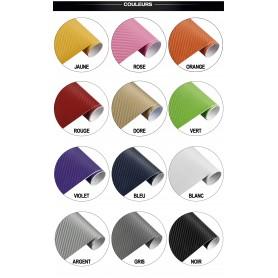 60x500 cm 3D Fibre de Carbone Vinyle Adhésifs Autocollant Stickers Voiture Décorations