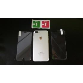 Film Vitre de Protection Verre en Trempe Avant et Arrière iPhone 7 Plus Dureté 9H
