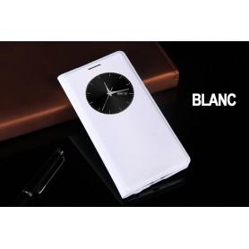 Etui S view Cover BLANC Pour LG G3 Quick Circle