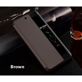 Etui à rabat BRUN Huawei P20 PRO Smart Flip Cover Clear View