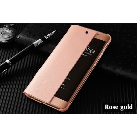Etui à rabat ROSE GOLD Huawei P20 Smart Flip Cover Clear View