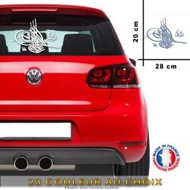 Stickers Osmanli Tugra 28x20 cm - 23 Couleur au choix