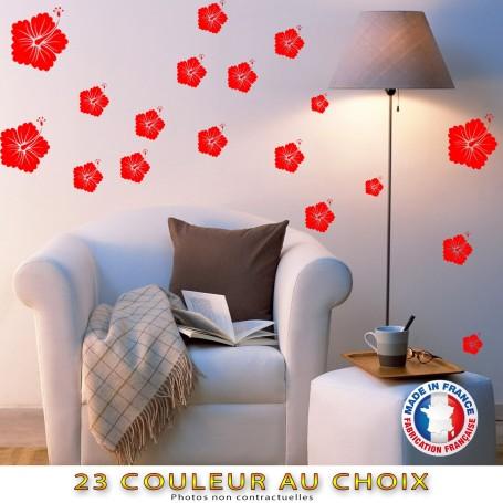 """Stickers """"Fleurs Hibiscus"""" 50 pièces Couleur au choix"""