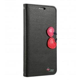 Housse Étui Cherry Case Portefeuille Pour iPhone X Stand option