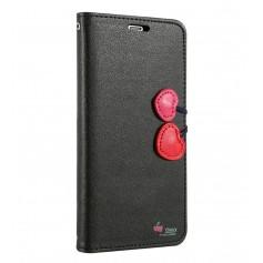 Housse Étui pour Fille NOIR Cherry Case Portefeuille Pour iPhone XS
