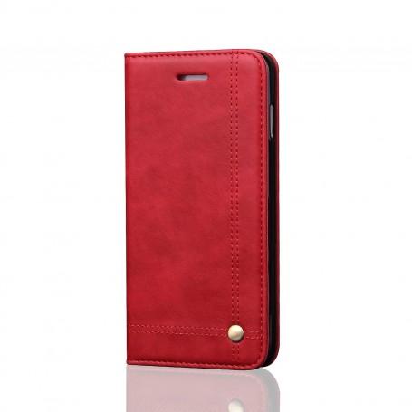 Housse Etui Flip Magnet Simili Cuir Pour iPhone XS Détenteurs de cartes