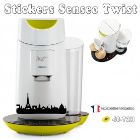 Stickers Senseo Twist Theme Paris 23 couleurs au choix