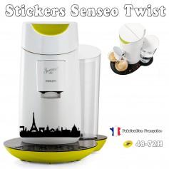 Stickers Senseo Twist Thème Paris 23 couleurs au choix Décorations