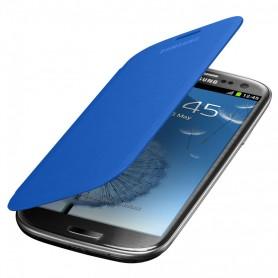 Etui Flip Cover Bleu Ciel Samsung Galaxy S3
