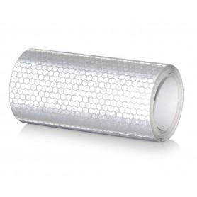 10x300 cm Bande Blanc Réfléchissante Autocollants Avertissement de Sécurité