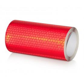 20x300 cm Bande Rouge Réfléchissante Autocollants Avertissement de Sécurité - Couleur - Rouge