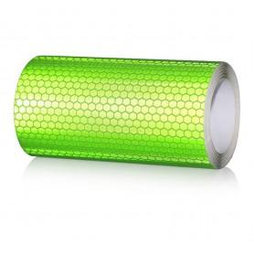 20x300 cm Bande Vert Réfléchissante Autocollants Avertissement de Sécurité - Couleur - Vert