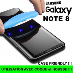 Pour Samsung Galaxy Note 8 Nano liquide UV Film Verre en Trempe Ecran Case Friendly