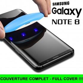 Pour Samsung Galaxy Note 8 Nano liquide UV Film Verre en Trempe Ecran 3D Full Cover