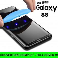 Pour Samsung Galaxy S8 Nano liquide UV Film Verre en Trempe Ecran 3D Full Cover