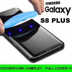 Pour Samsung Galaxy S8 PLUS Nano liquide UV Film Verre en Trempe Ecran 3D Full Cover
