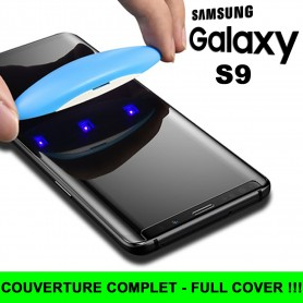 Pour Samsung Galaxy S9 Nano liquide UV Film Verre en Trempe Ecran 3D Full Cover