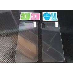 Lot 2 - Vitre Verre en Trempe Avant et Arrière pour Apple iPhone XS MAX