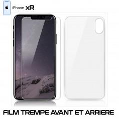 Pour Apple iPhone XR Vitre de Protection Verre en Trempe Avant et Arrière