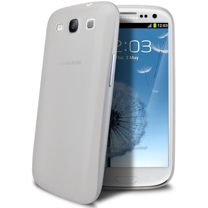 Samsung Galaxy S3 Mini Housse Étui BLANC Extra Fin 0,3 mm