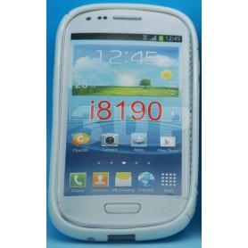 Galaxy S3 Mini Etui Silicone S-Line Blanc