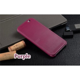 Etui Violet Motif Point Dot View HTC M8
