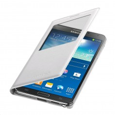 pour Samsung Galaxy Note 3 SM-N9005 Etui S-View Blanc Cover