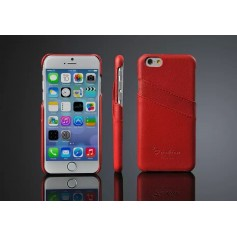 Etui Cuir Véritable Litchi Motif Rouge Phone 6